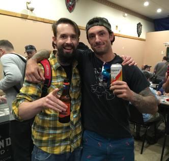 "Dan Courcy and Jim ""Not Dredge"" Apostolakes"