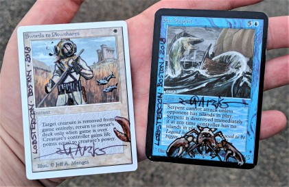 Alters provided for the charity raffle (Swords to Plowshares) and the winner of the tournament (Sea Serpent)