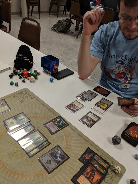 Robin explained to me that this is a boring board state, but I don't know what Premodern cards are.