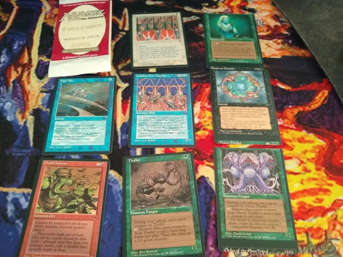Mark Jonovich's insane Fallen Empires miscut pull from sealed product he won in the raffle.