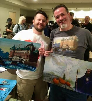 Playmat trade between Dice City and Quebec City