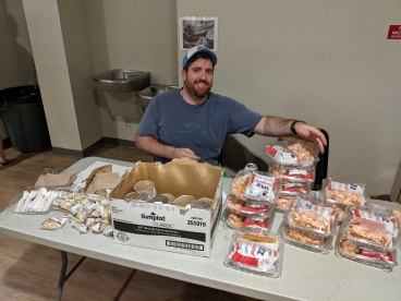 Jared manning the lobster roll station.